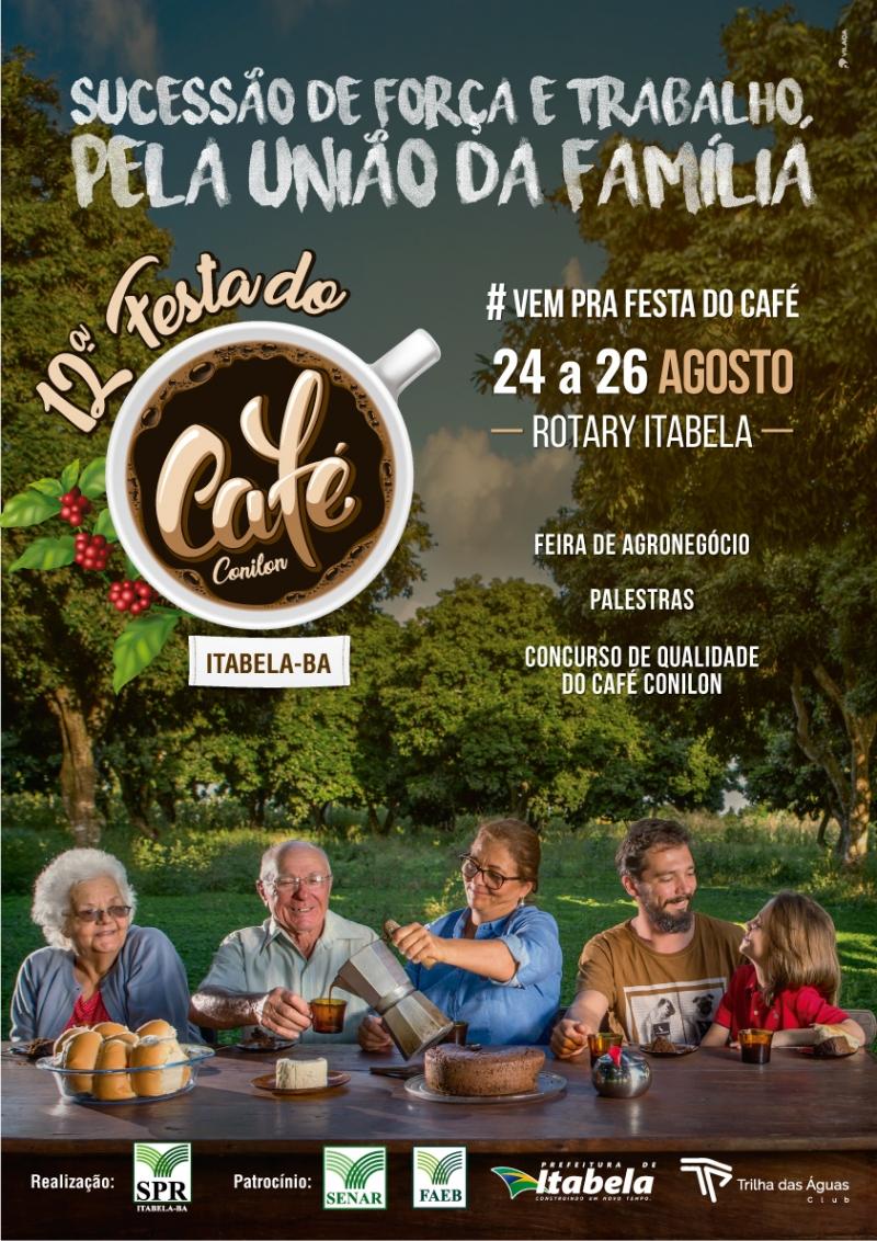 A Festa do Café acontecerá entre os dias 24 e 26 de agosto, no Rotary Clube de Itabela. (Divulgação)