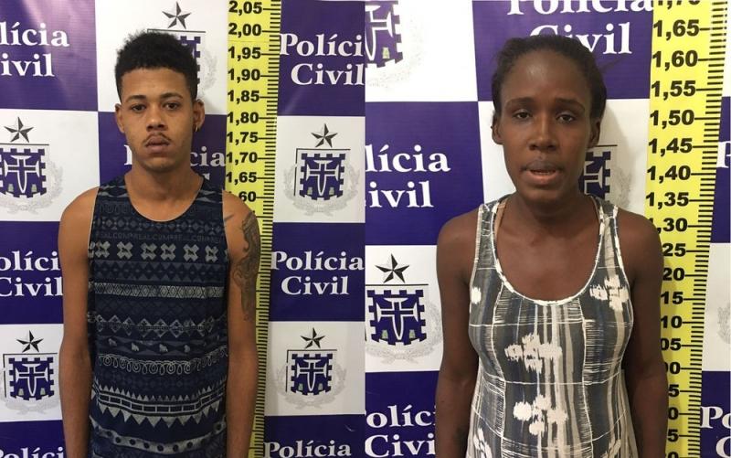 Casal foi autuado por tentativa de extorsão e corrupção de menores. (Foto: Divulgação/ Polícia Civil)