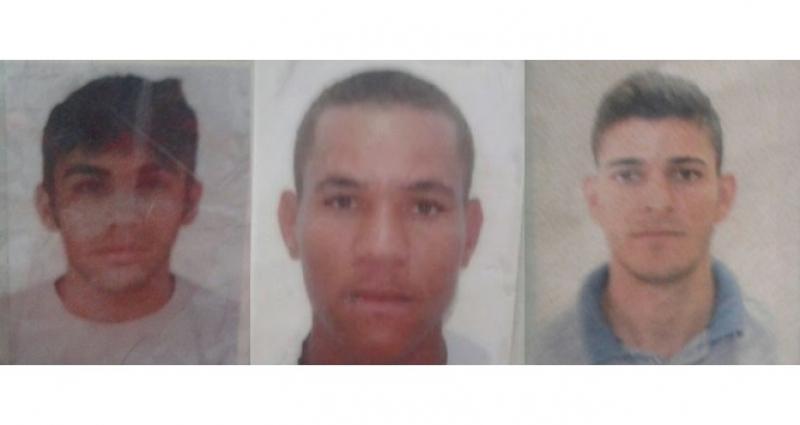 Márcio, Luiz Lázaro e José Rogério, as vítimas do acidente. (Foto do site Acorda cidade)