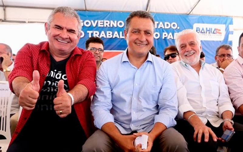 Ângelo Coronel, Rui Costa e Jaques Wagner. (Imagem: Reprodução)