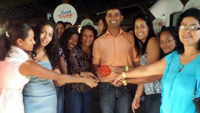 Agnevaldo Cardoso durante a entrega do prêmio Servidor Cidadão,  realizada na capital baiana. (Divulgação)