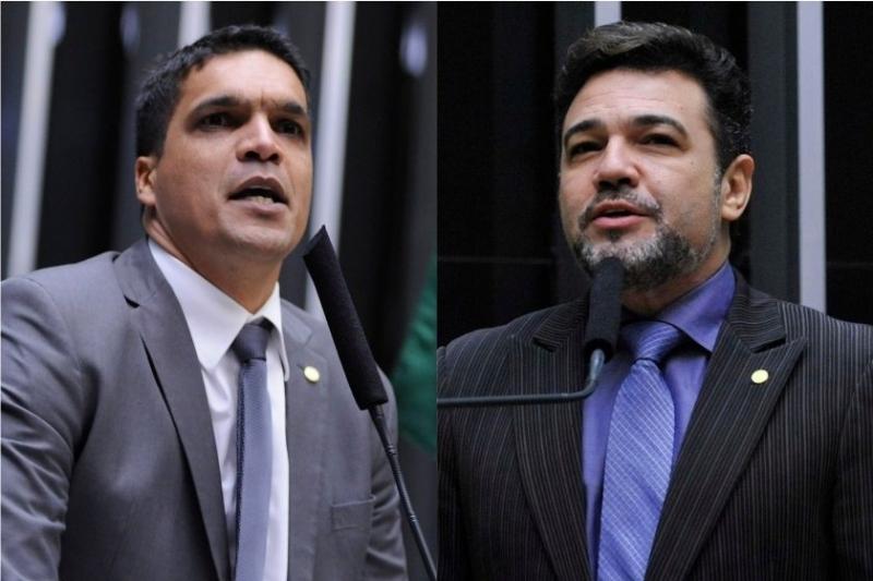 Cabo Daciolo e Marcos Feliciano. (Alex Ferreira e Luis Macedo-Câmara dos Deputados)