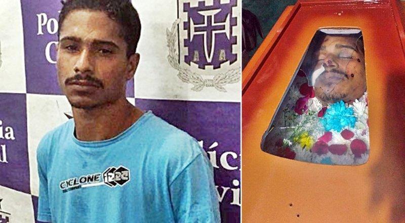 Corpo de homem acusado de ter assassinado policial foi alvejado dentro do próprio caixão. (Divulgação)