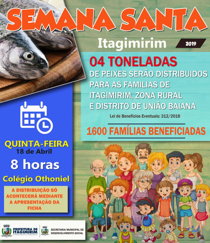 Famílias beneficiadas estão cadastradas no CadUnico/Programas Sociais. (Ascom-Itagimirim)