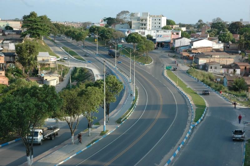 Eunápolis, no extremo sul da Bahia. (Reprodução)