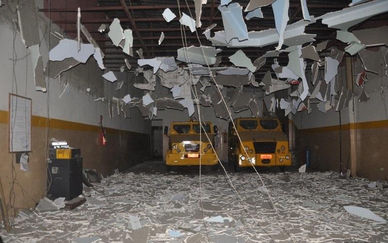 Criminosos simplesmente destruíram a sede da transportadora. (Imagem: Radar64)