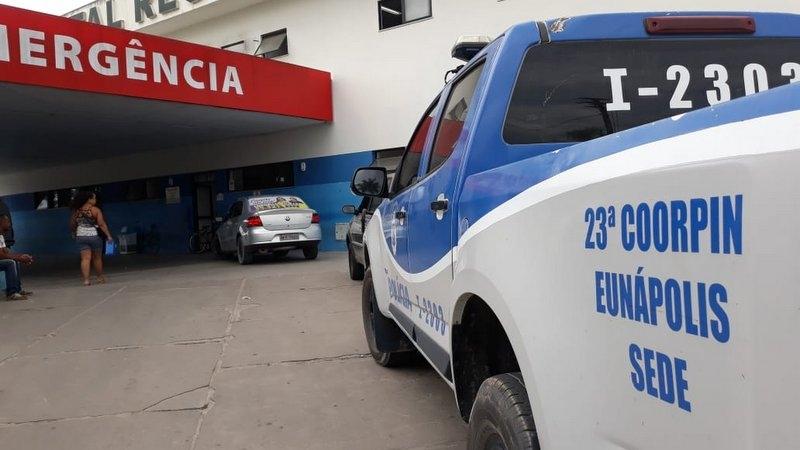 Vítima foi encaminhada ao Hospital Regional de Eunápolis. (Gustavo Moreira/Radar64)
