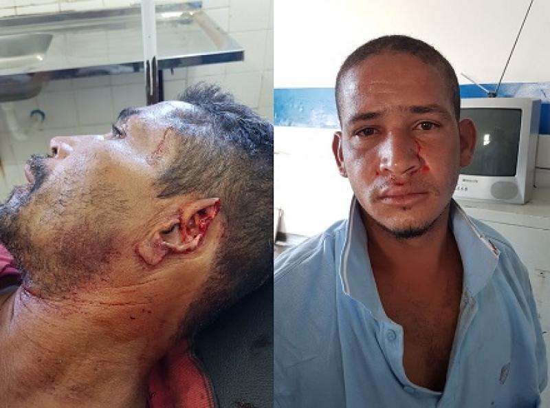 Agressor foi preso, enquanto que a vítima precisou de atendimento médico. (Imagem: Ubatã Notícias)