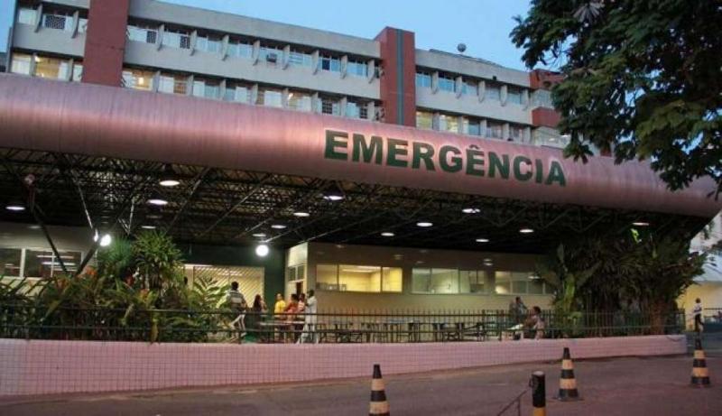 Vítima foi encaminhada ao Hospital Geral do Estado com graves ferimentos. (Imagem: Reprodução)