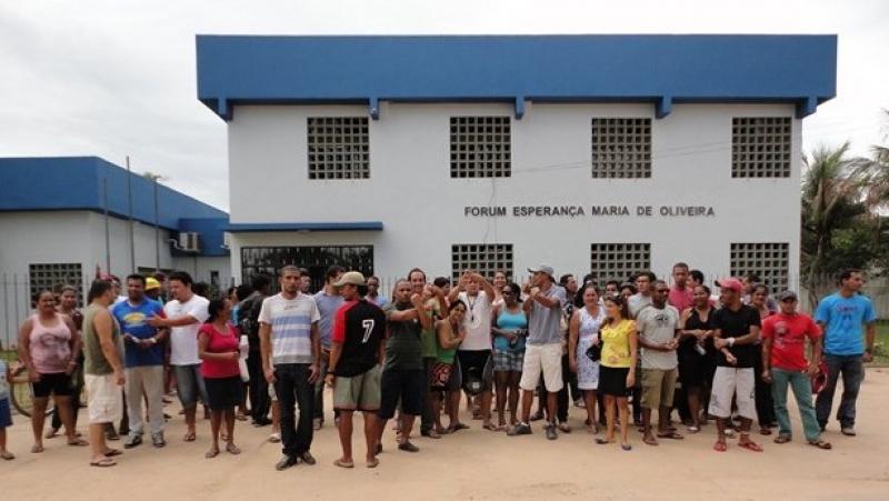 População se mobilizou contra o fechamento da comarca. (Divulgação)