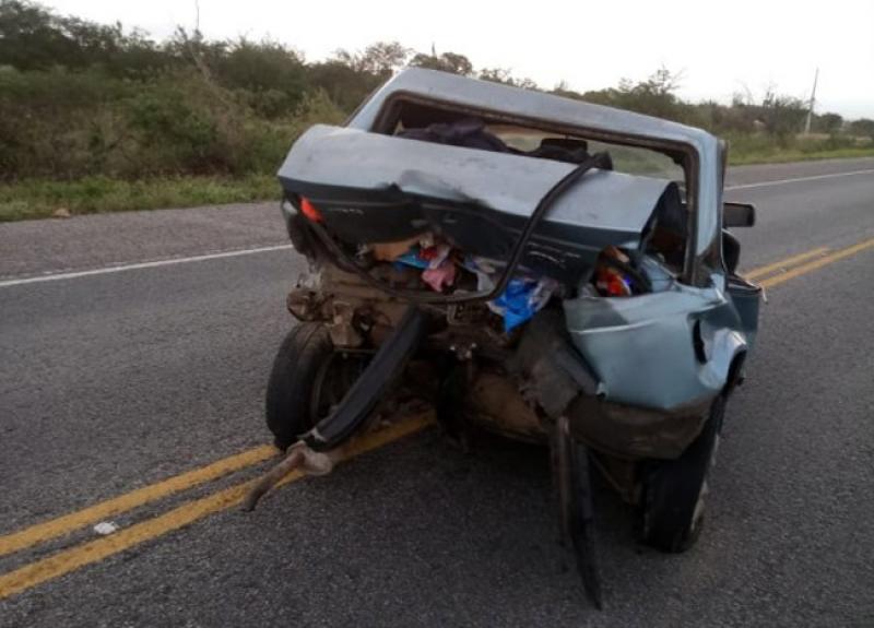 Vítimas empurravam carro quando foram atingidas. (Imagem: PBJ)