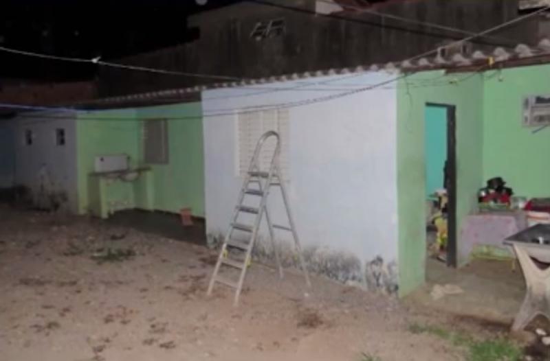 Casa onde ocorreu o crime. (Reprodução: Tv Oeste)