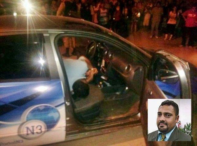 Gel Lopes foi morto em seu veículo. (Foto: Rastro101)