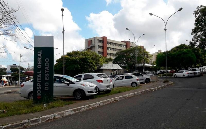 A vítima foi levada para o HGE em Salvador. (Foto do G1 Bahia)
