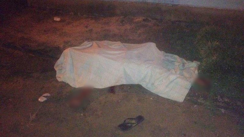 Vítima não resistiu aos ferimentos e morreu no local. (Gustavo Moreira/Radar64)