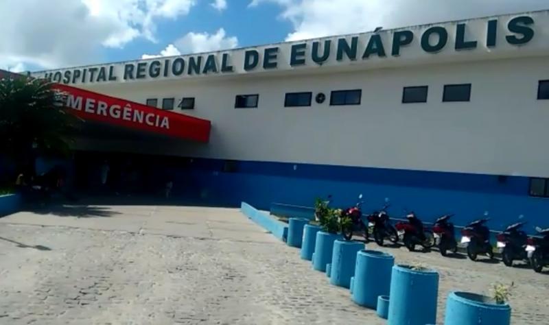 Hospital Regional de Eunápolis. (Reprodução: TV Santa Cruz)