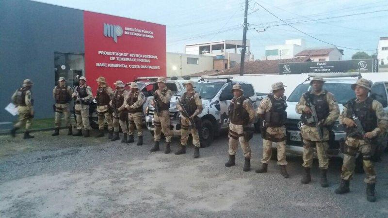 Ação foi realizada por cinco promotores de Justiça e 26 policiais do Estado (Divulgação-MPBA)