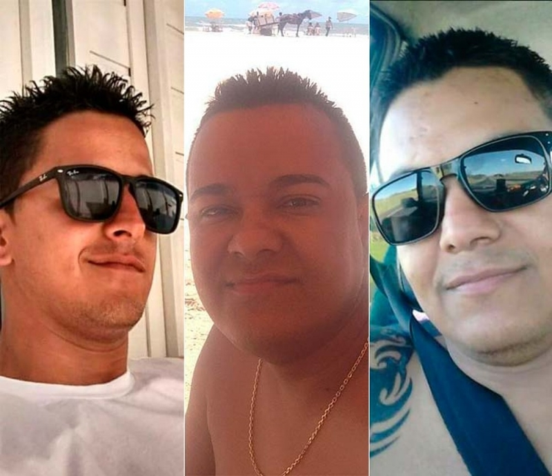 Vítimas foram identificadas como os irmãos Bruno, Cláudio e Reures. (Imagem: Facebook)