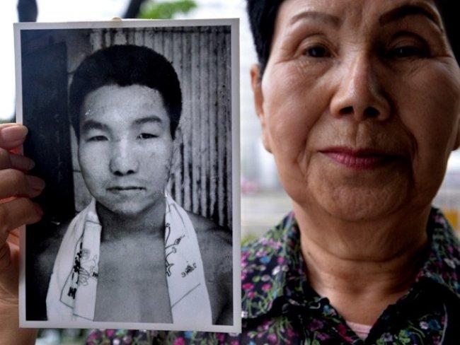 Irmã do boxeador Iwao Hakamada, condenado à morte mais velho do mundo (Foto: Kazuhiro Nogi/AFP)