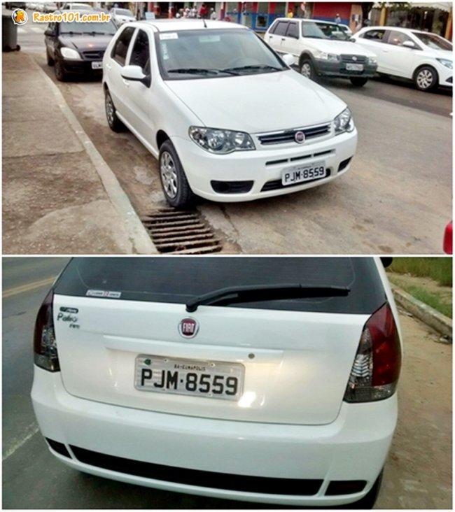 Bandidos usaram um veículo Fiat Pálio, com as mesmas características que a vítima relatou no primeiro assalto. (Foto: Divulgação/Polícia Militar)