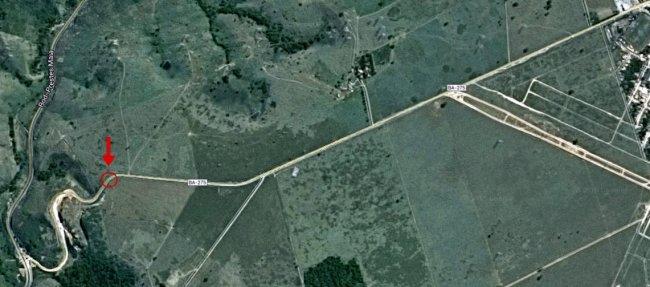 Imagem mostra o local do acidente. (Imagem: Google Maps)
