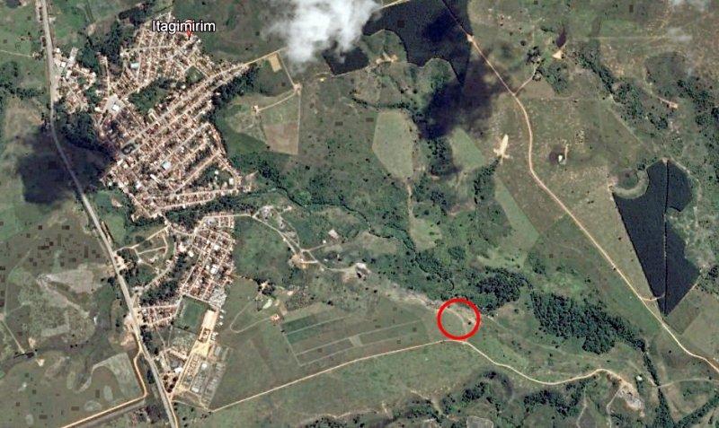 Corpo foi encontrado há cerca de 2 km do centro de Itagimirim (Google)
