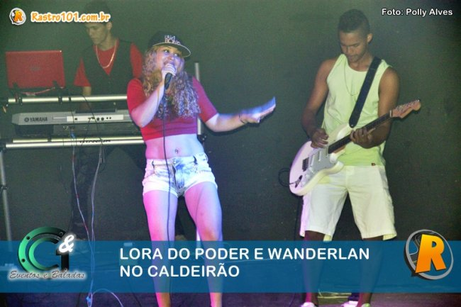 Lora do Poder animou o Caldeirão. (Foto: Polly Alves)
