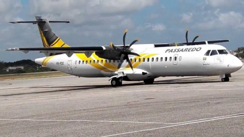 Avião da companhia Passaredo. (Imagem: Ilustrativa