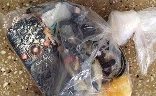 Os objetos apreendidos (Foto: Teixeira News)