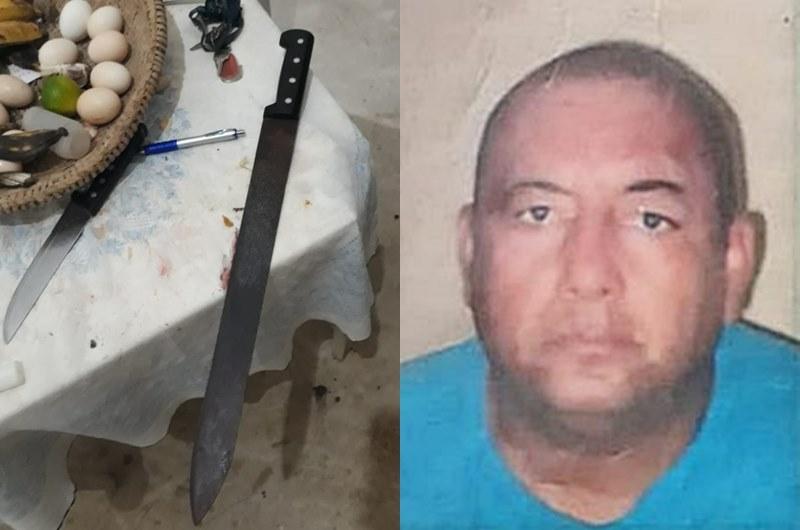 Brutal: Homem foi morto que vários golpes de facão na cabeça. (SulBahia News)