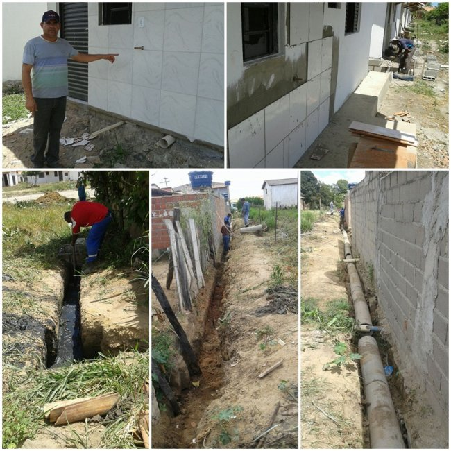 Construção de rede de esgoto no conjunto habitacional Minha Casa, Minha Vida, já estão em andamento. (Foto: Ascom)