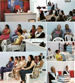 Várias pessoas participaram da palestra realizada na Loj Maçônica Augusto Gonçalves. (Wesley Gonçalves)
