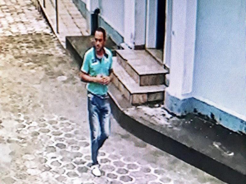 Júnior foi identificado com a ajuda das câmeras de segurança da igreja (Foto: Divulgação/ Polícia Civil)