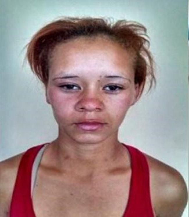 Angélica Queiroz Soarez, presa por tráfico de drogas (Foto: Liberdade News)