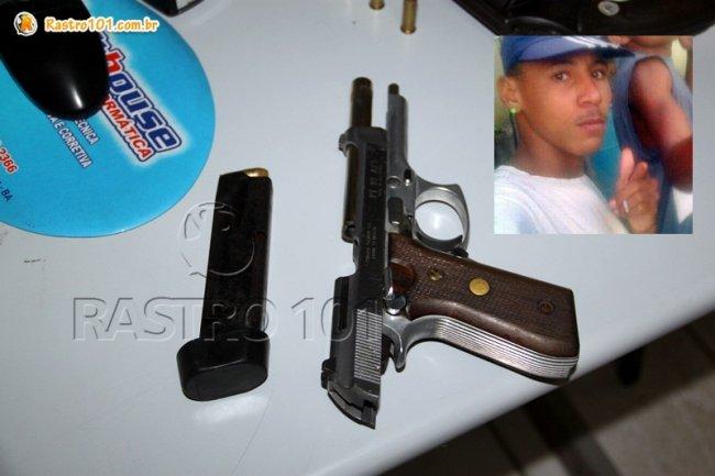 Maicon de Souza, conhecido como Maiquinho, portava a pistola 9mm e morreu em troca de tiros.