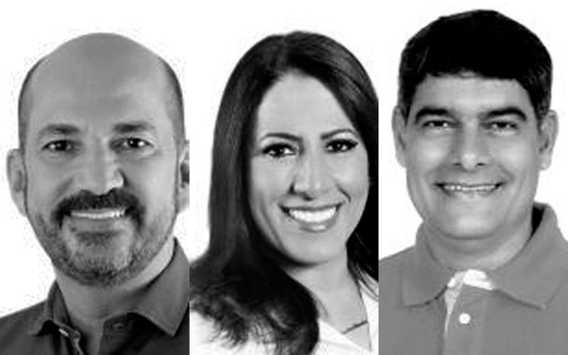 Robério Oliveira, Cláudia Oliveira e Agnelo Santos. (Reprodução: Internet)