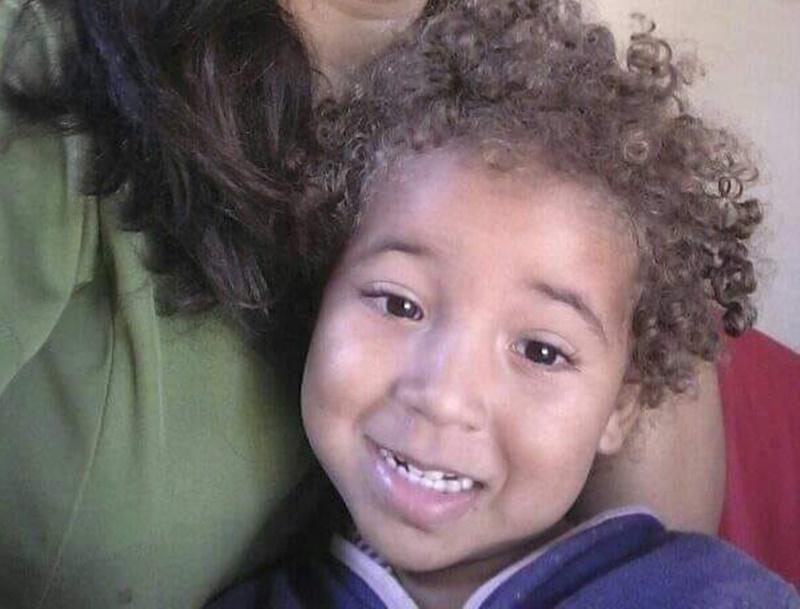 Criança foi identificada como Radassa. (Arquivo pessoal)