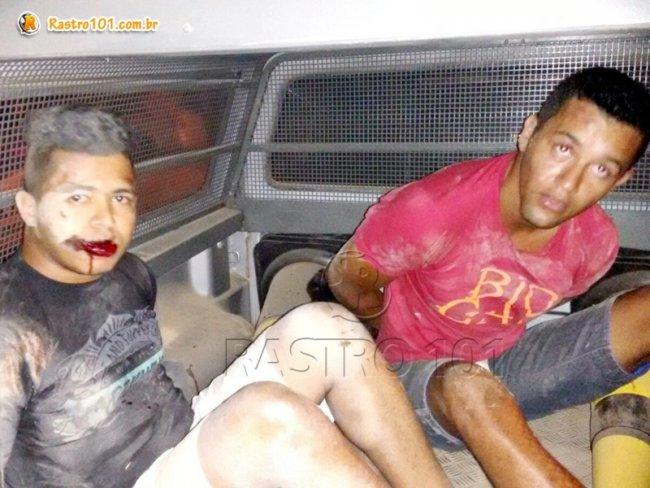 Arlon Nascimento e Fabrício Marques se entregaram após perseguição. (Divulgação/PM)