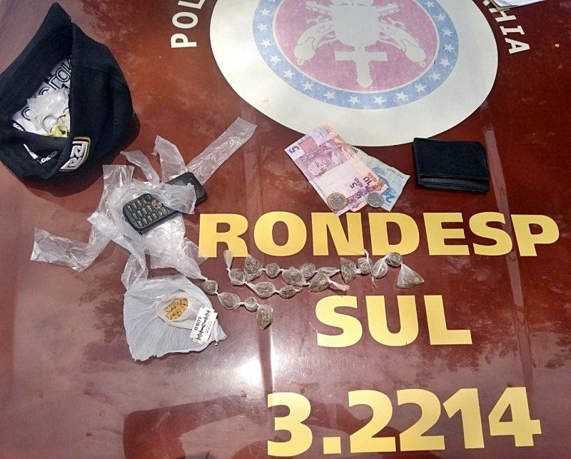 RONDESP SUL apreende drogas que estavam em poder do suspeito (Rastro101)