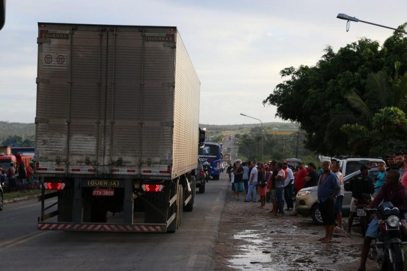 Trecho sendo liberado na Bahia. (Divulgação/SSP-BA)