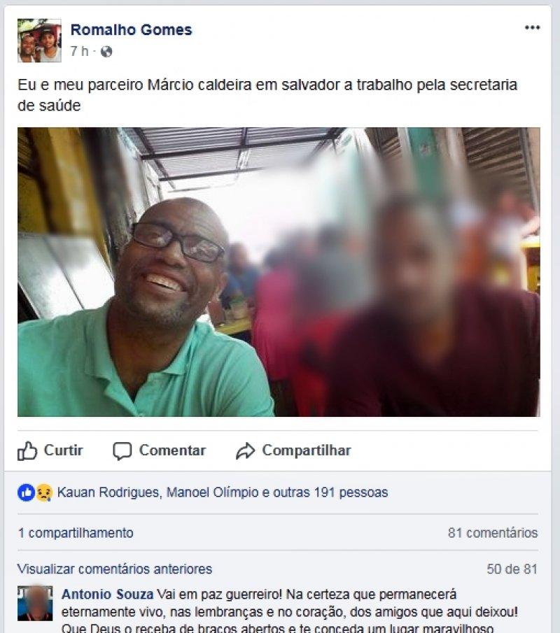Ele havia postado uma foto durante a viagem horas antes do acidente. (Divulgação)