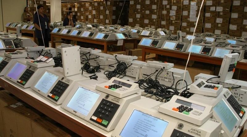 Urnas eletrônicas brasileiras. (Reprodução)