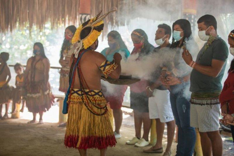 Foto de momentos do Aragwakã (Divulgação Veracel)