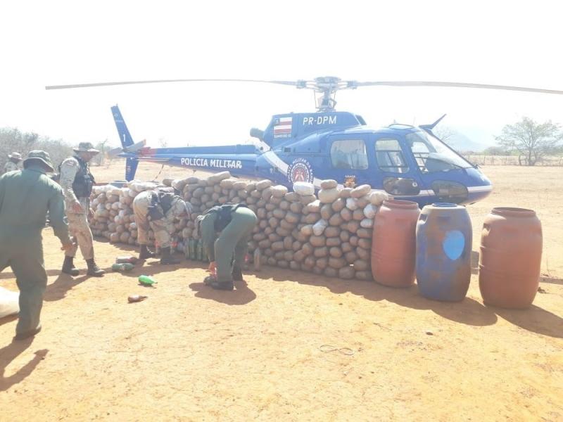 600 kg de maconha também foram apreendidos. (Foto: Divulgação/SSP)